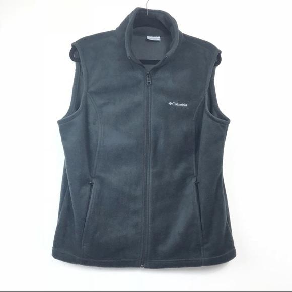 Columbia Jackets & Blazers - Columbia Grey Full Zip Fleece Vest XL